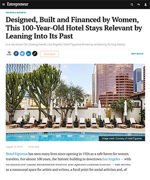 Entrepreneur | Article on Hotel Figueroa